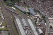 INVESTMENT: An aerial view of Darlington's Bank Top station on the East Coast Main Line