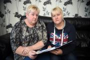 INSURANCE PAYBACK: Sisters Elaine Briscoe (left) and Sandy Millington have been ordered to pay back thousands after a pension company wrongly paid them £108,000 when their father, Rob Gent died.