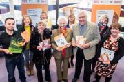 BOOKS: County councillors Clare Wood and Chris Metcalfe with dementia carer Kathleen Powlay (centre) and representatives from  Dementia Forward, Making Space and Northallerton volunteer centre.