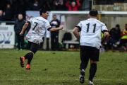 GOAL-GETTER: Nelson Mota celebrates scoring in Darlington's win at Harrogate RA last week, his second goal in as many games				          Picture: TIM HICKMAN