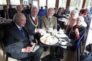 TEA AT THREE: Archer's Ice Cream Parlour in Walworth hosts a 'Steam and Cream' function involving mayors