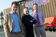 Pictured at the large agricultural machinery manufacturers Sumo in Melbourne near York are its new owners James Sweeting, Simon Herring who also own Lincoln & York Coffee Roastery, also shown is former owner and now Technical Director Shaun Wealleans.  Le