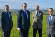 H&H Land and Property directors, from left, David Quayle, Brian Richardson chief executive, Peter Hull, and Tim Parsons