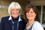 Trish West, left, and Gail Hall, who received funds for their pioneering transport schemes