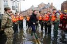 Prime Minister David Cameron visits York during the floods