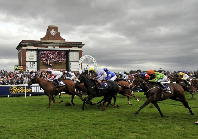 Out Do and Daniel Tudhope (no 16) win the William Hill Great St Wilfrid Stakes during the William Hill Great St.Wilfrid Handicap Day at Ripon Racecourse, Ripon. Picture: John Giles/PA Wire