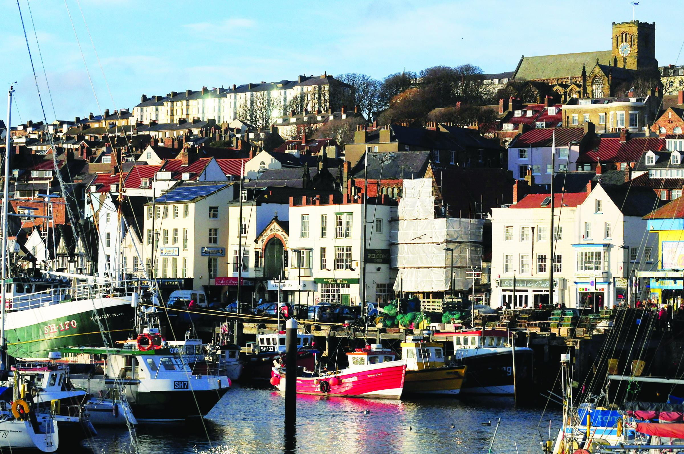 Scarborough Harbour, with the Italian garden nearby. Picture: Martin Oates