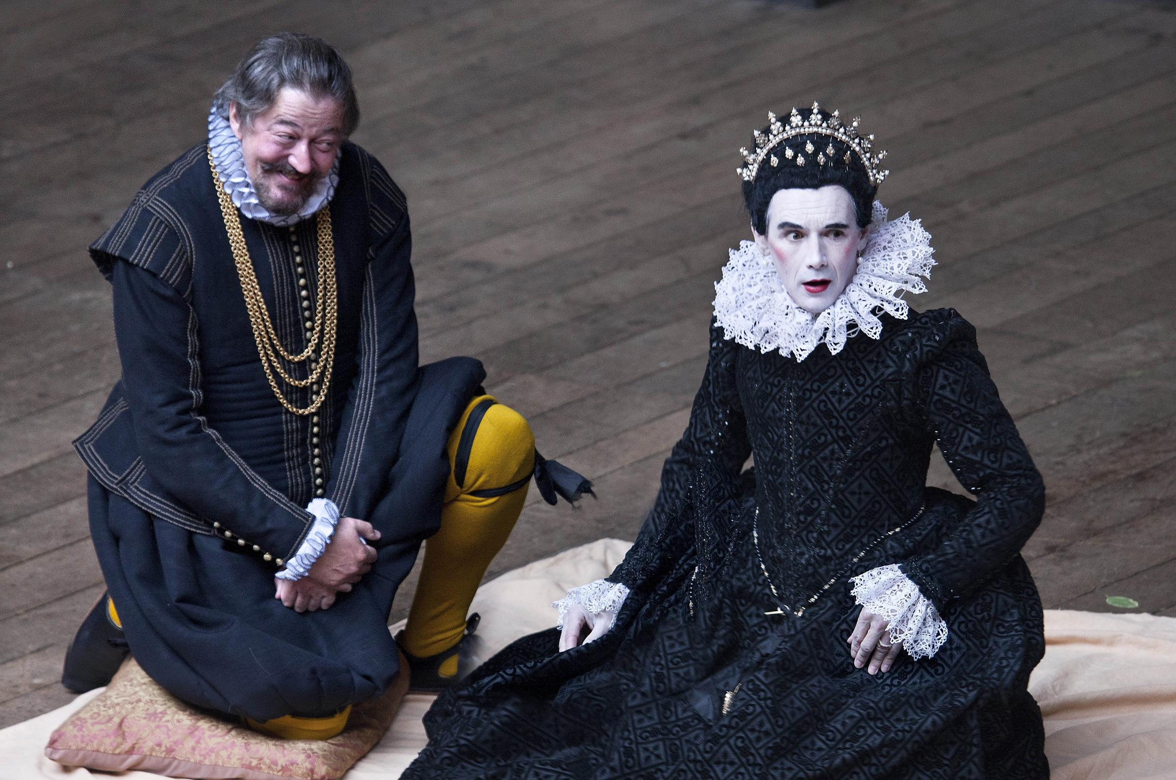 The Globe Theatre production of Twelfth Night, featuring Stephen Fry