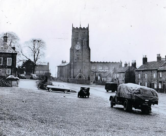A quiet day on the cobbles in Bedale on January 18, 1957