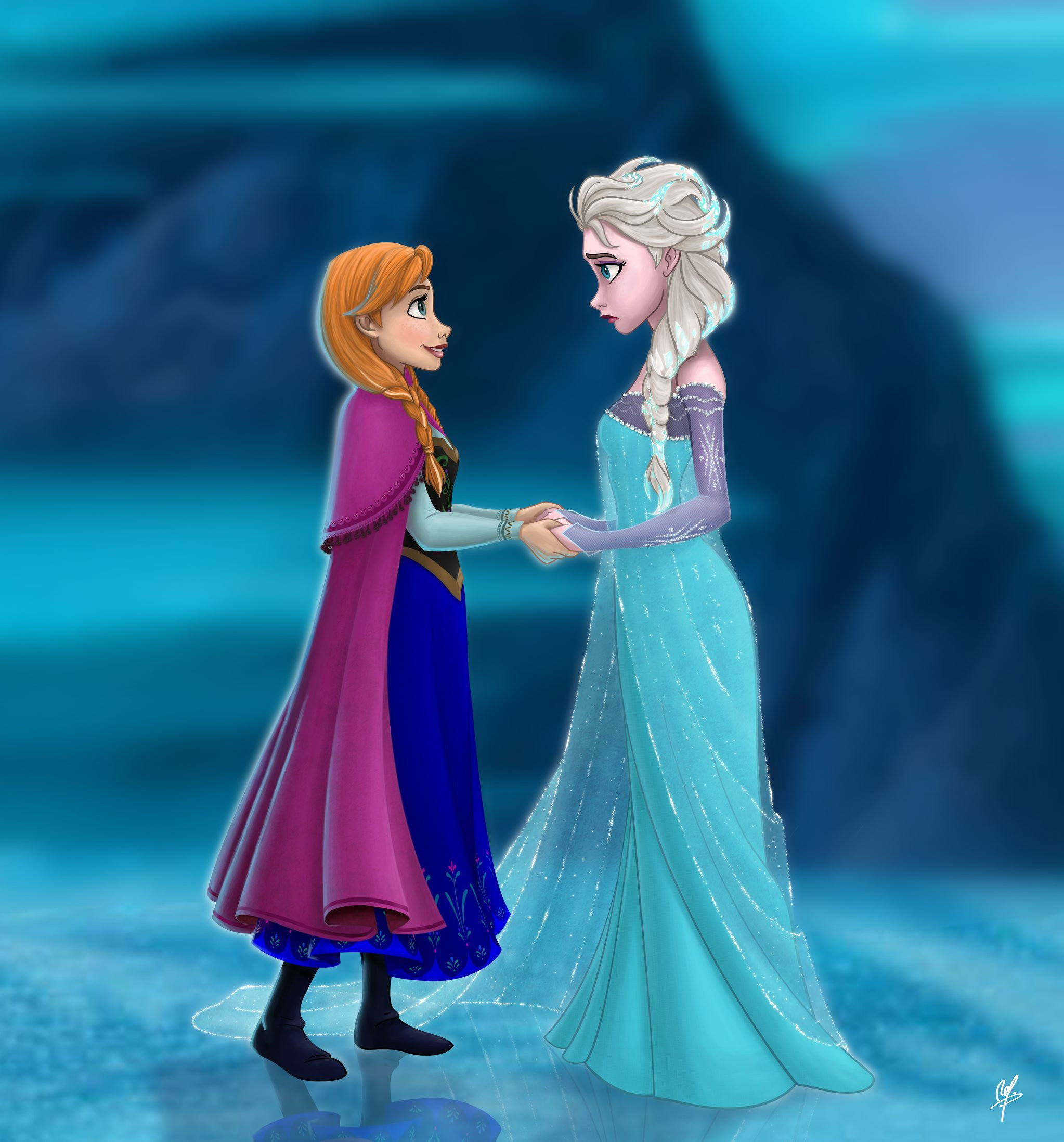 A scene from Disney film, Frozen