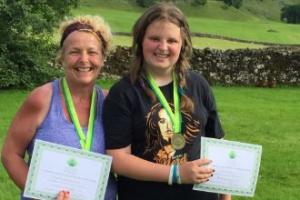 Bridget and Grace Clark have raised £2,300 for Yorkshire Cancer Research by completing the Yorkshire Three Peaks Challenge