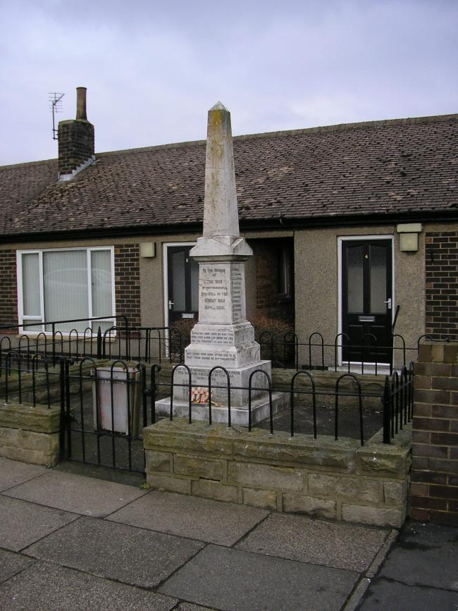 MEMORIAL: The war memorial at Butterknowle. Picture credit: North East War Memorials Project