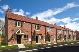 An artist's impression of the homes being built in Dalton near Thirsk