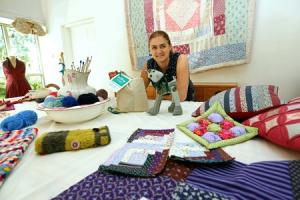 CREATIVE: Paula Richardson in her new craft studio at her home in Londonderry near Bedale. Picture: Richard Doughty Photography