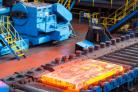 Production has begun again at the Dalzell steel plate mill in Motherwell (Warren Media/PA Wire)