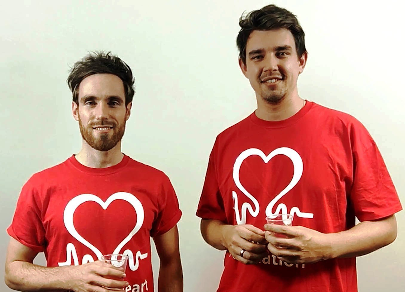 HEARTFELT-Jonathan, left and David Stretton-Downes who are hoping to raise £100,000 for the British Heart Foundation