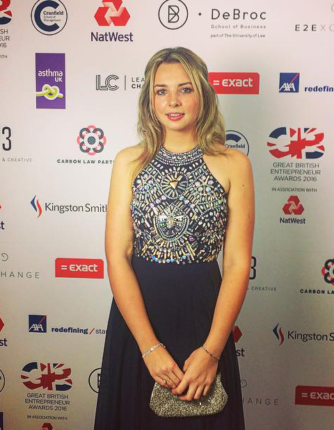 Hannah Russell, 19, a runner-up in the Young Entrepreneur of the Year awards