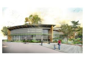 PLANS: An artist's impression of the planned Sir Robert Ogden Macmillan Centre at the Friarage Hospital in Northallerton