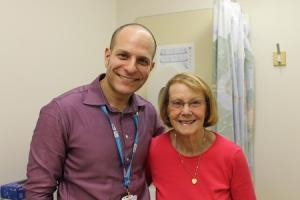 Dr Talal Mansy and patient Sylvia Lewis at The James Cook University Hospital