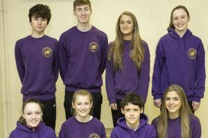 Darlington Harriers have received a county call-up. Back row, from left, Ben Lambert, Max Harris, Stella Jones, Catherine Roberts, with front row, from left, Harriet Rogers, India Pentland, James Roberts, Lucy-Erin Hunter