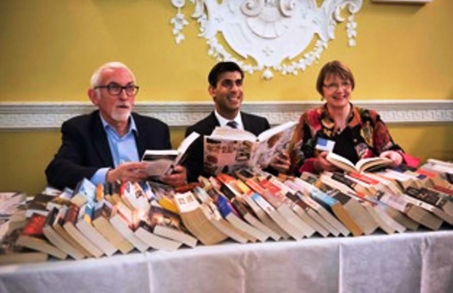 SUPPORT: Friends of Bedale Library, Andy Hallett, Rishi Sunak MP, Susan Perkins.  Picture: Nikki Ramsay