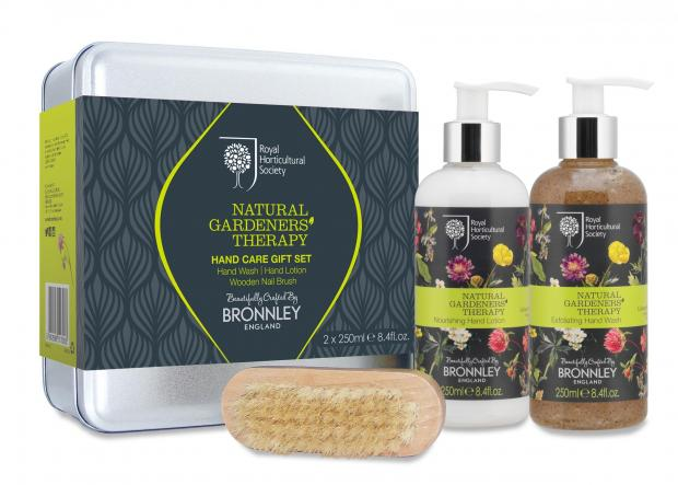Darlington and Stockton Times: Undated Handout Photo of RHS Natural Gardeners Therapy Hand Care gift set, available from bronnley.co.uk. See PA Feature GARDENING Mothers Day. Picture credit should read: PA Photo/Handout. WARNING: This picture must only be used to accompany PA Feature G