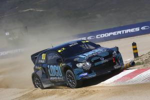 Guy Wilks in action in the World Rallycross round in Portugal