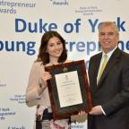 Darlington and Stockton Times: HONOUR: Newcastle University graduate Shantelle Million is presnted with her award by HRH The Duke of York