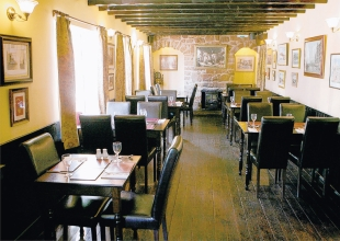 PLAIN AND SIMPLE: The dining room of the Grange Arms at Hornby