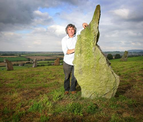 STONE ME: Sentry Circle creator Derek Plews stands among his Stonehenge-like visitor attraction