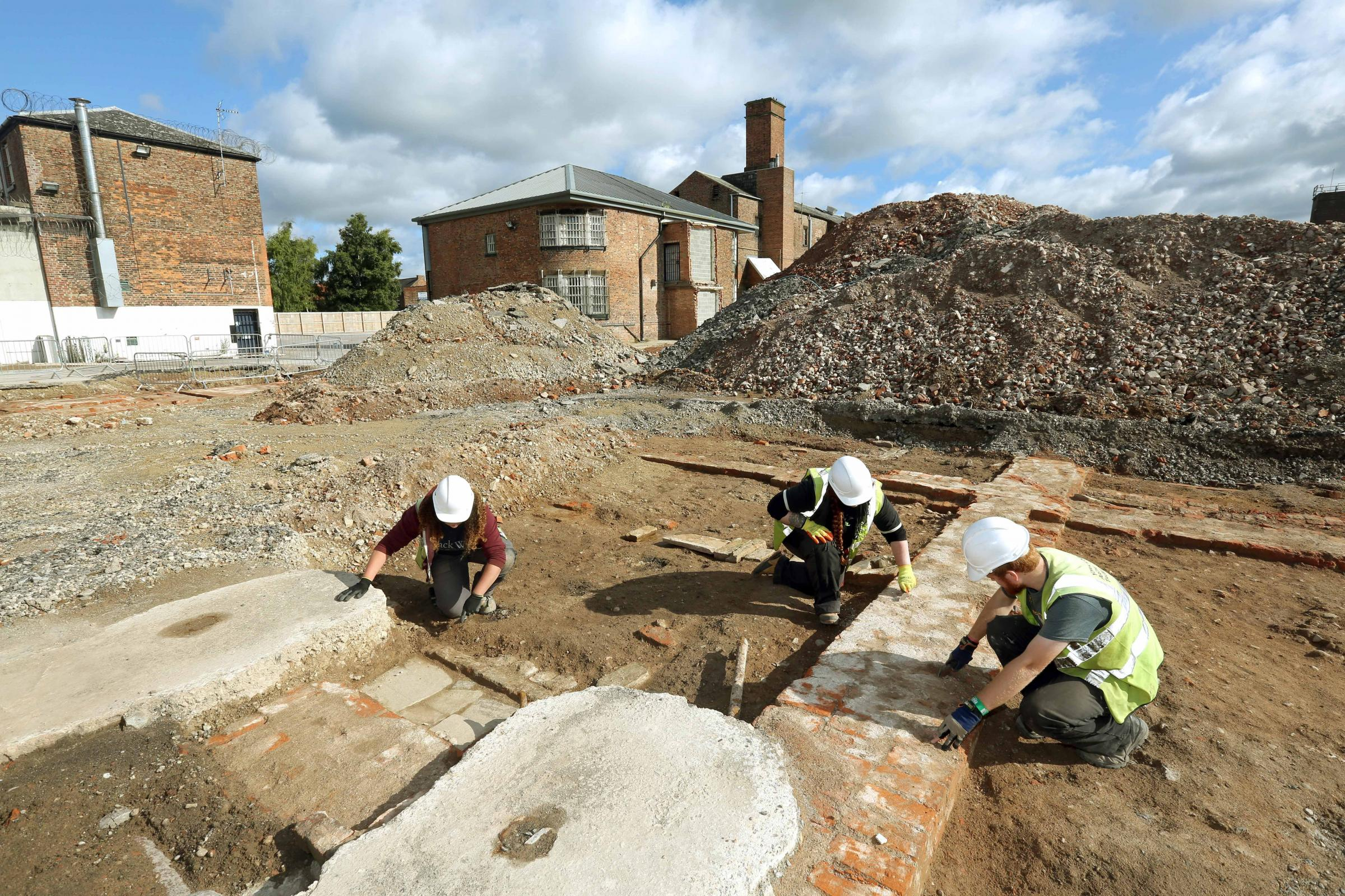 Archaeologists working on the former Northallerton Prison site where the cookhouse would have been sited.  Picture: Richard Doughty Photography.