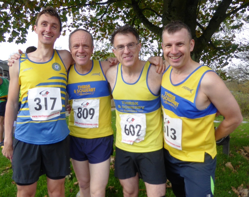 Tom Levi, Marc Davies, Cameron Choules, Alan Simpson before the Gormire Gamble. Picture: BEV DAVIES