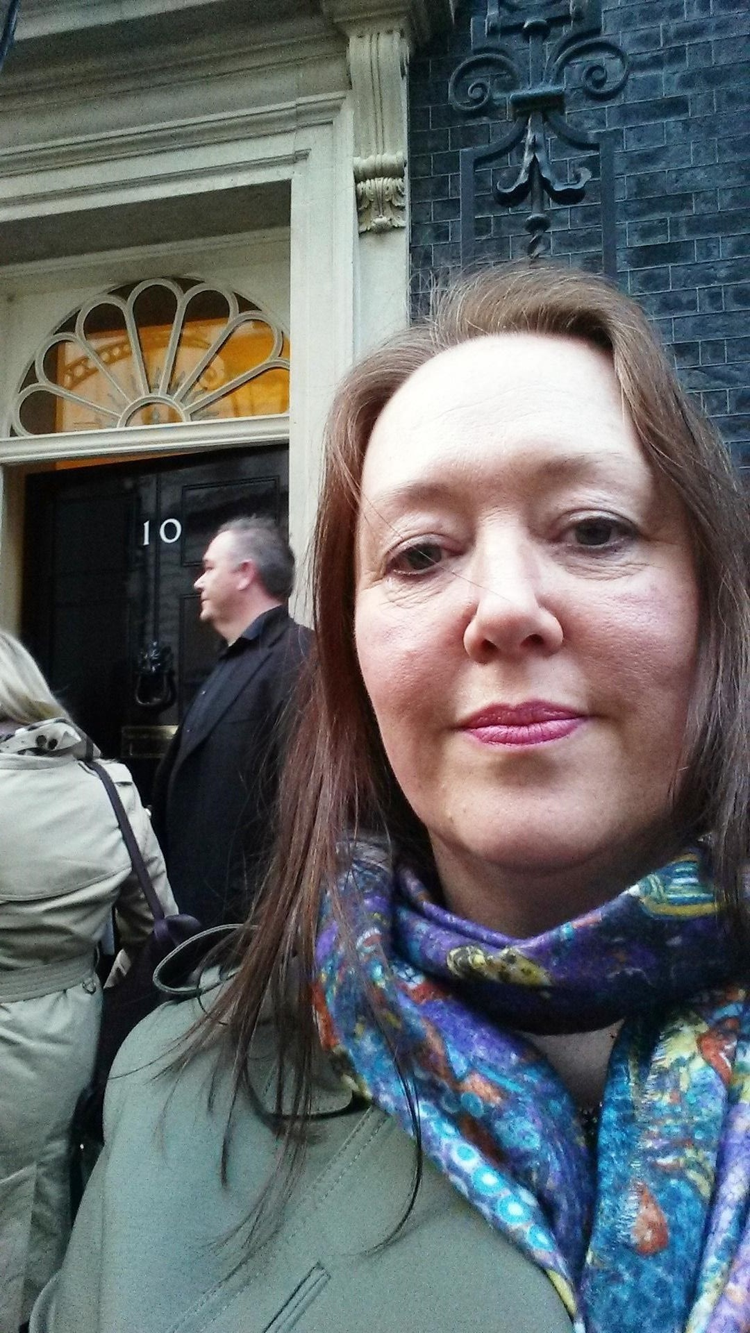 CAMPAIGN: Margaret Manchester, of Durham Hens, outside of 10 Downing Street