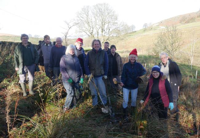 VOLUNTEERS: The community planting team at Hebden, in the Yorkshire Dales