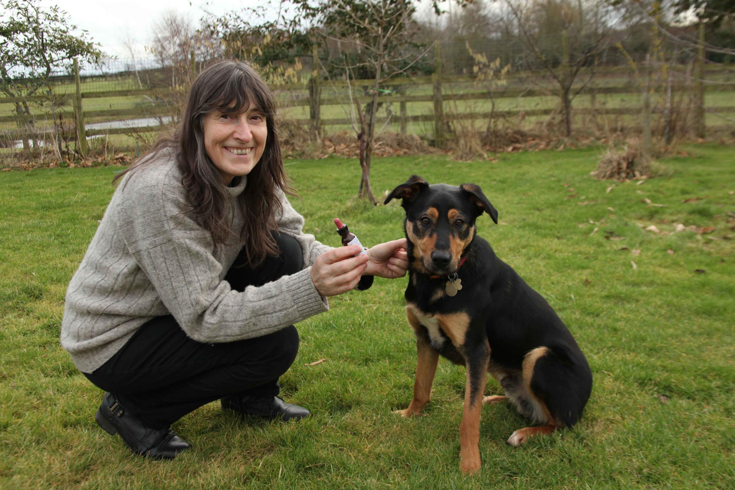 Animal Counsellor Elizabeth Carter with Toffee.