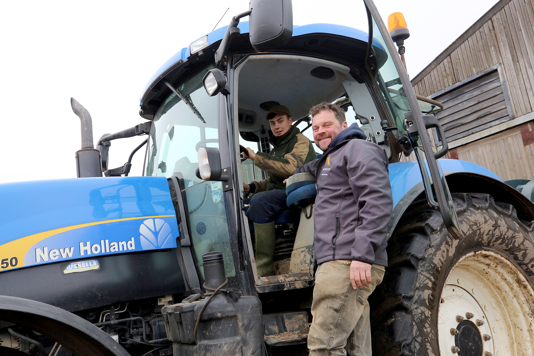 GRANTS: Apprentice Matthew Cook at work with Alan Petch at Angrove Farms in Great Ayton – one of the businesses helped by the Hambleton scheme.