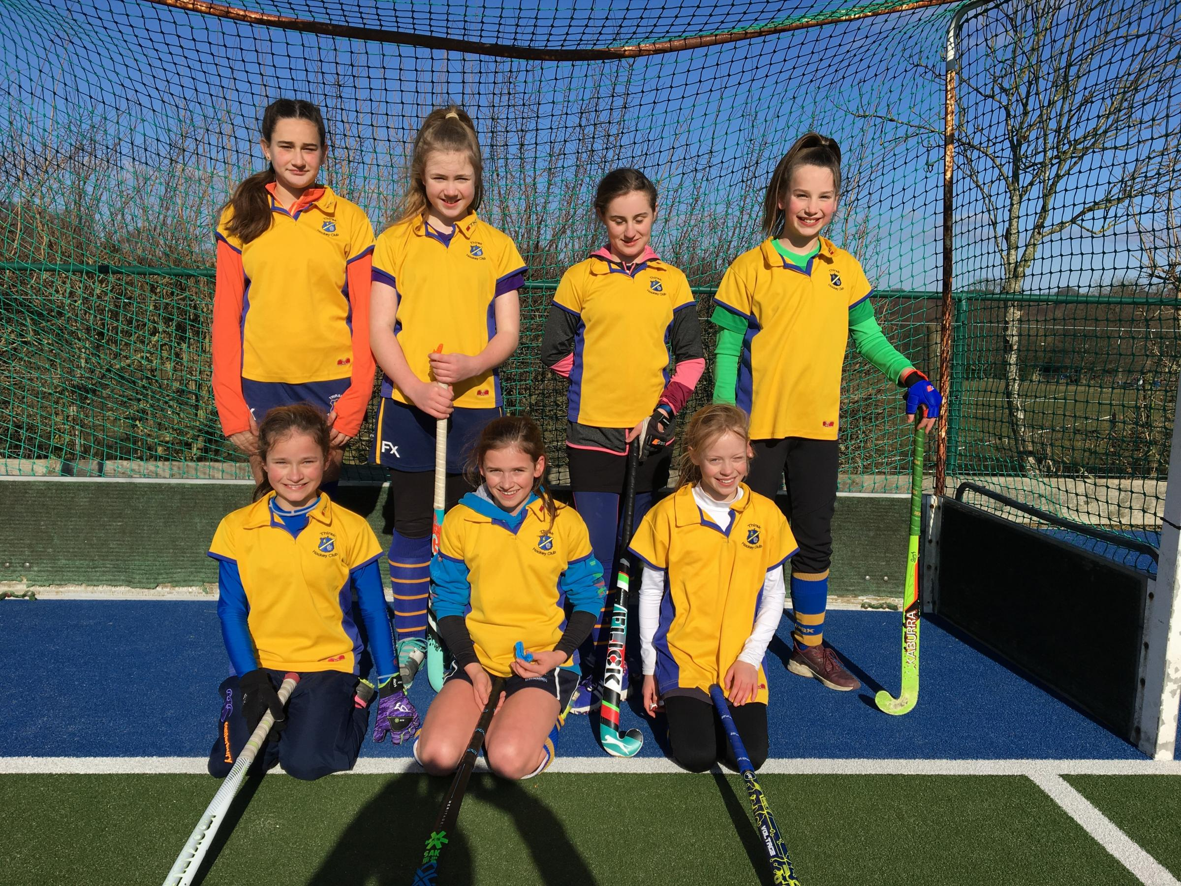 Thirsk under 12 girls' B team, who played several matches at Weetwood and did well, despite having to borrow a goalkeeper