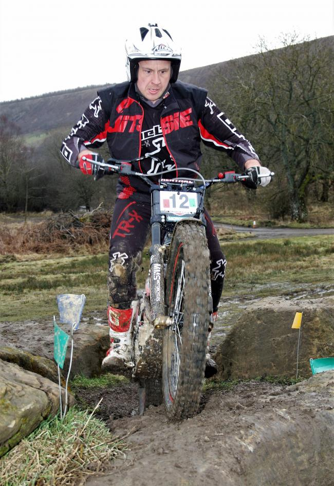 Mike Noble in action at the Scarborough & D.M.C. Club championship trial, Low North Park