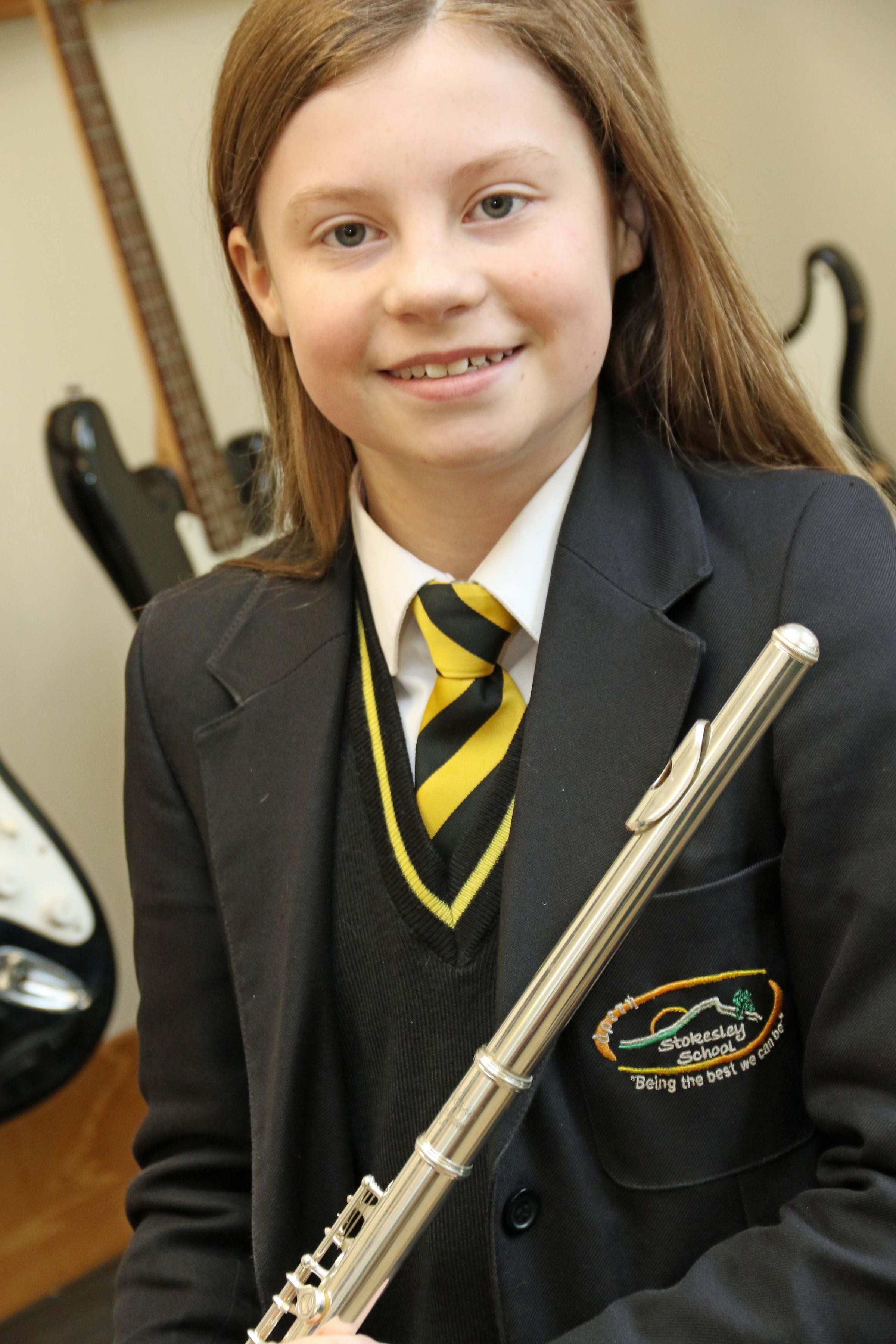 SUCCESS: Stokelsey School flautist Lilly Smith