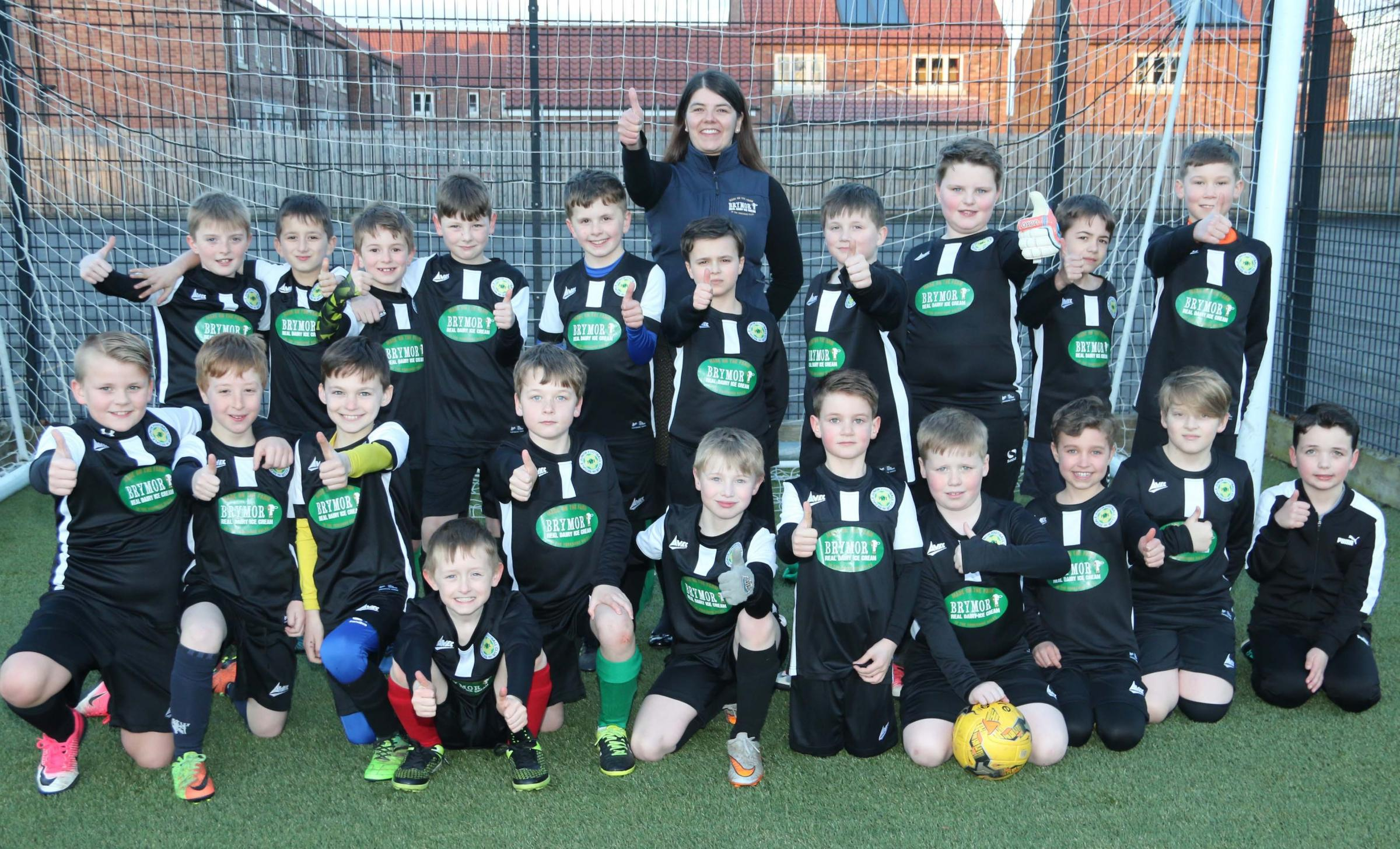 Brymoor Ice Cream is sweet sponsorship deal for Bedale Junior Football Club