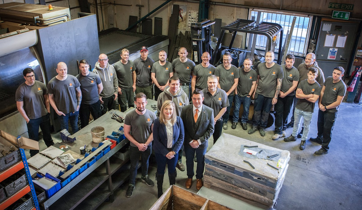 SHOW: The team at Langver, based in Thirsk, which engineers bespoke products for truck trailers