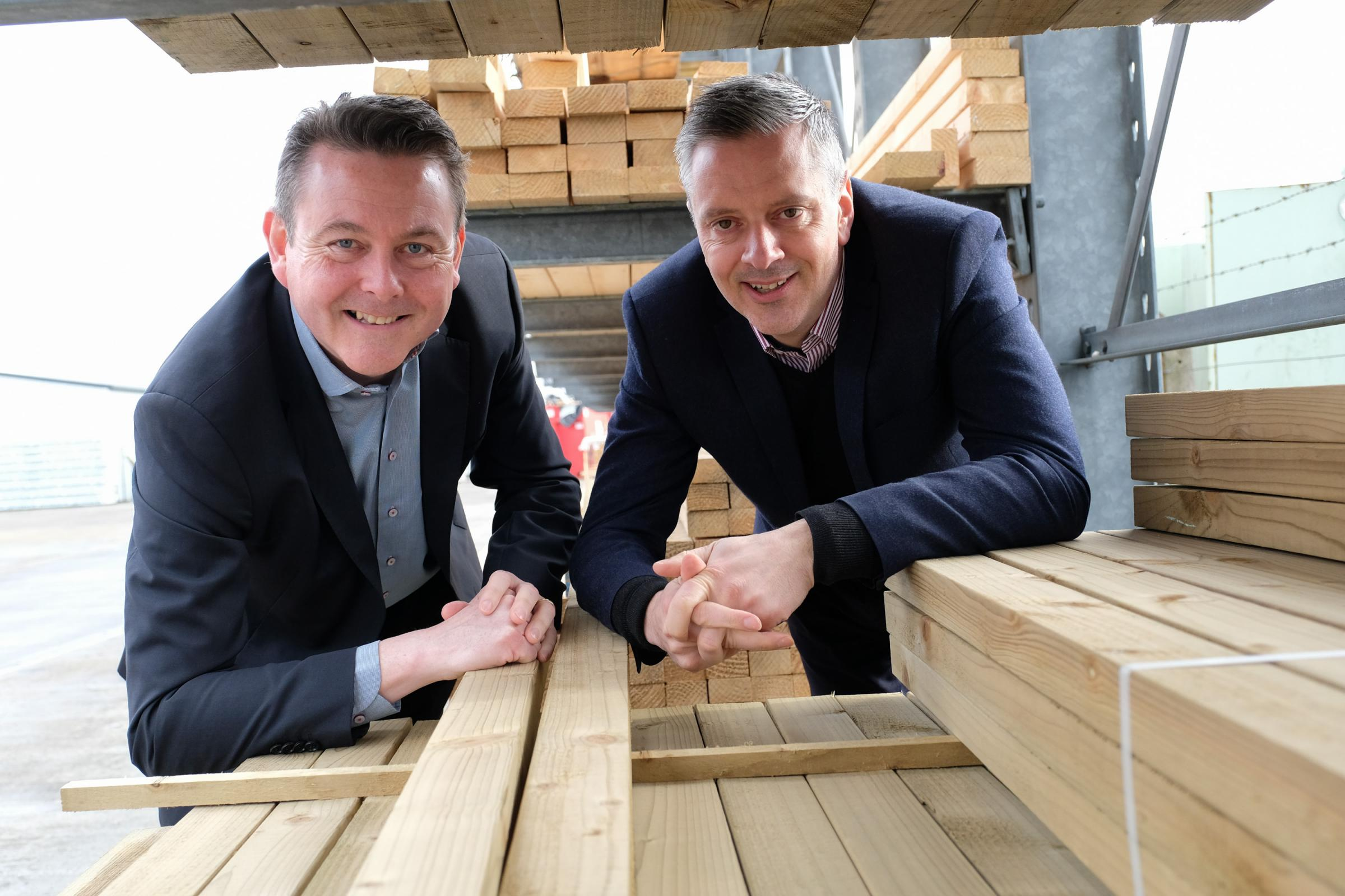 Angus Allan, partner in Corporate Finance at Clive Owen LLP and Nick Kershaw, NY Timber's managing director. Picture:Keith Taylor
