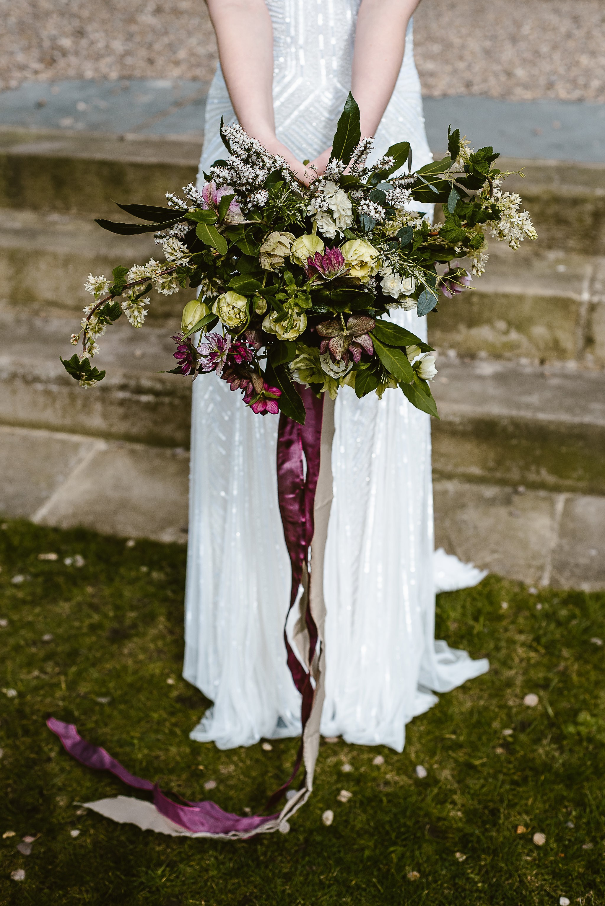 One of Susan Dobson's bridal bouquets inspired by the flowers of the Dales.