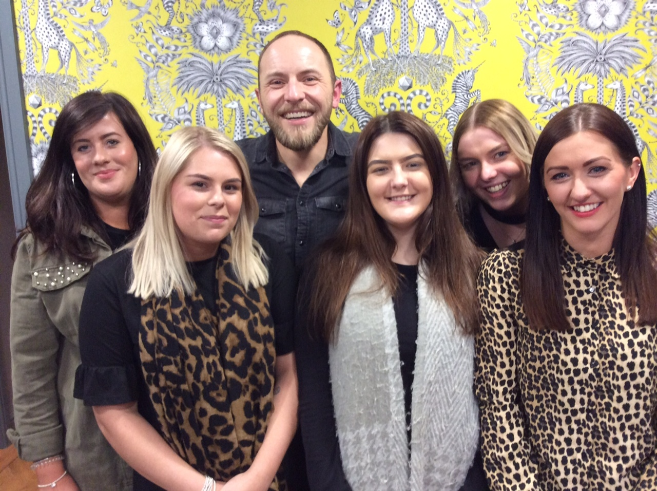 The Shine team from Stokesley: (left to right) Laura Atkinson, Leah Weatherill, Stephen MacVean, Georgia Tweddell, Yazmine Walker, and Charlie Dixon.