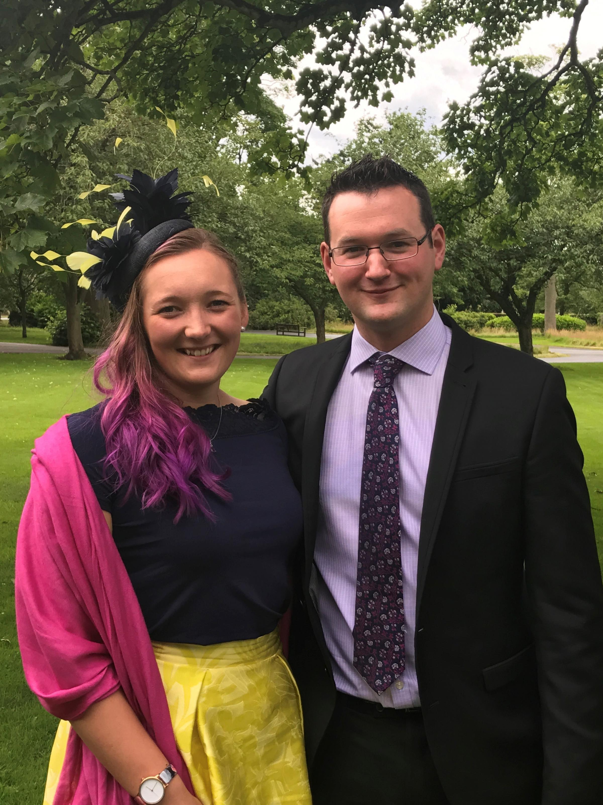 HELP: Caroline Baker with her partner David Coatsworth