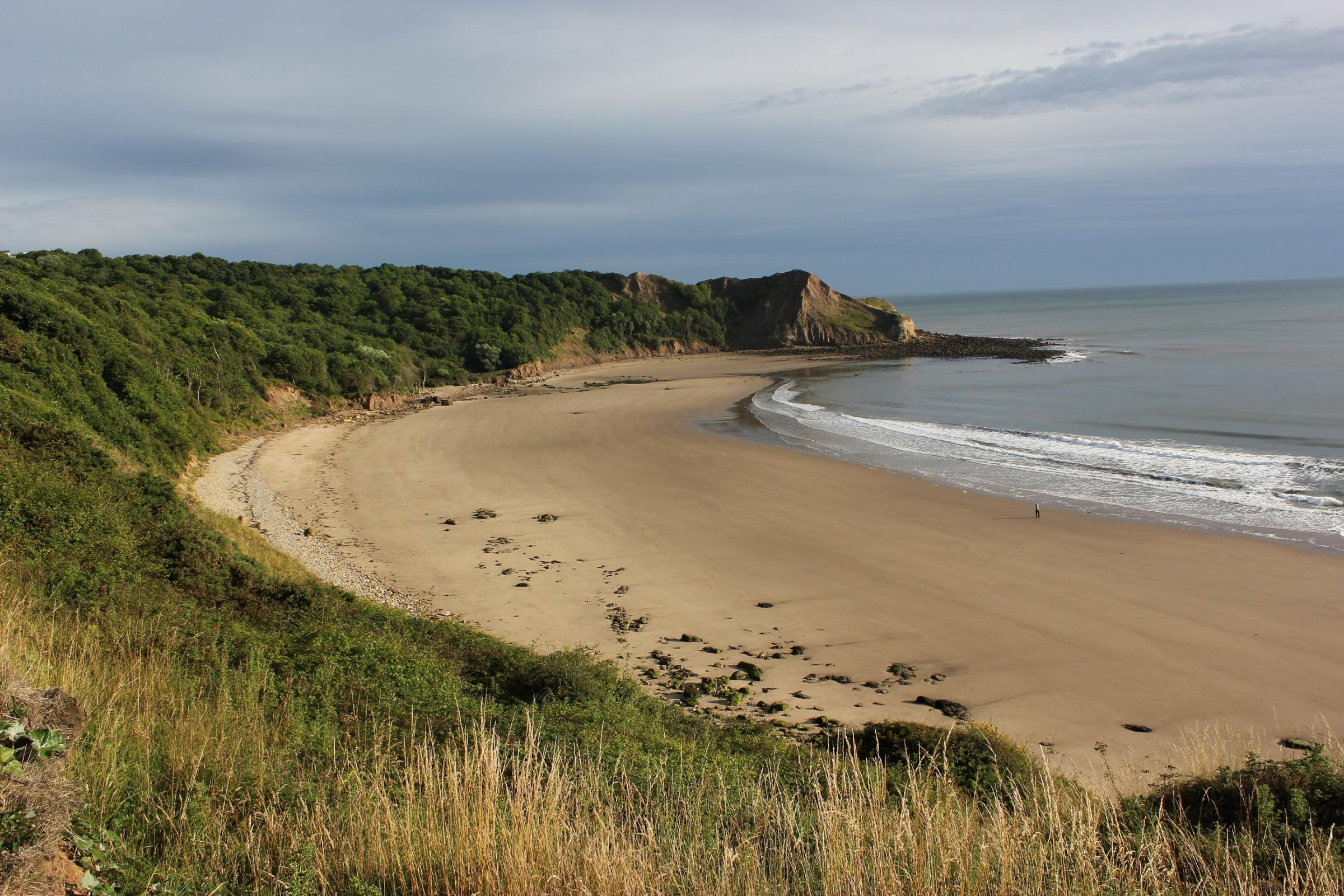 FILM: The Cleveland Way at Cayton Bay nr Scarborough. Picture:  North York Moors National Park.