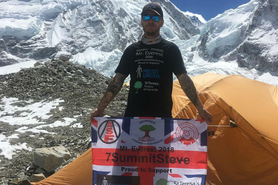 PROUD: Steve Graham, from Darlington, who has conquered Everest today