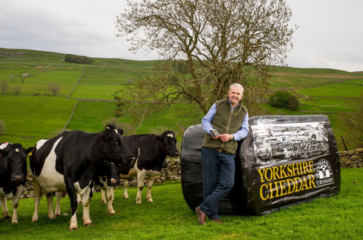 "NEW: Wensleydale Creamery managing director David Hartley launches the new ""Yorkshire Cheddar""."