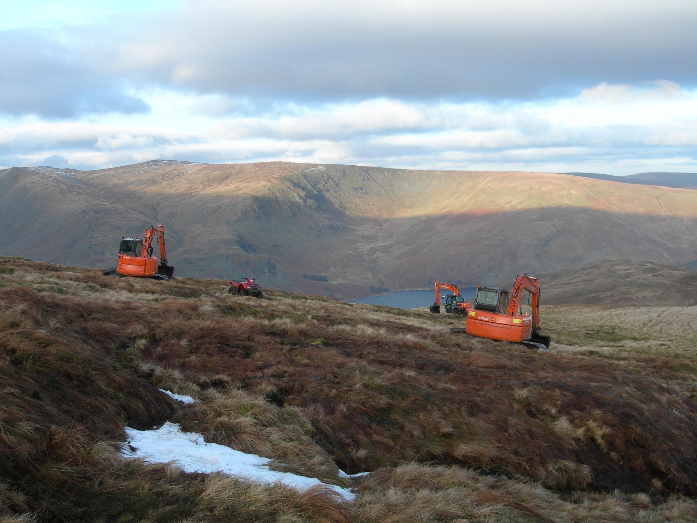 Peat restoration work at Mardale in Cumbria. Photo: Susie Lane