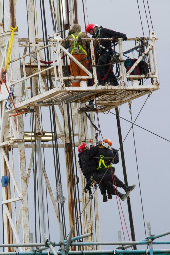 RIG: Anti-fracking protestors occupy drilling rig at Kirby Misperton